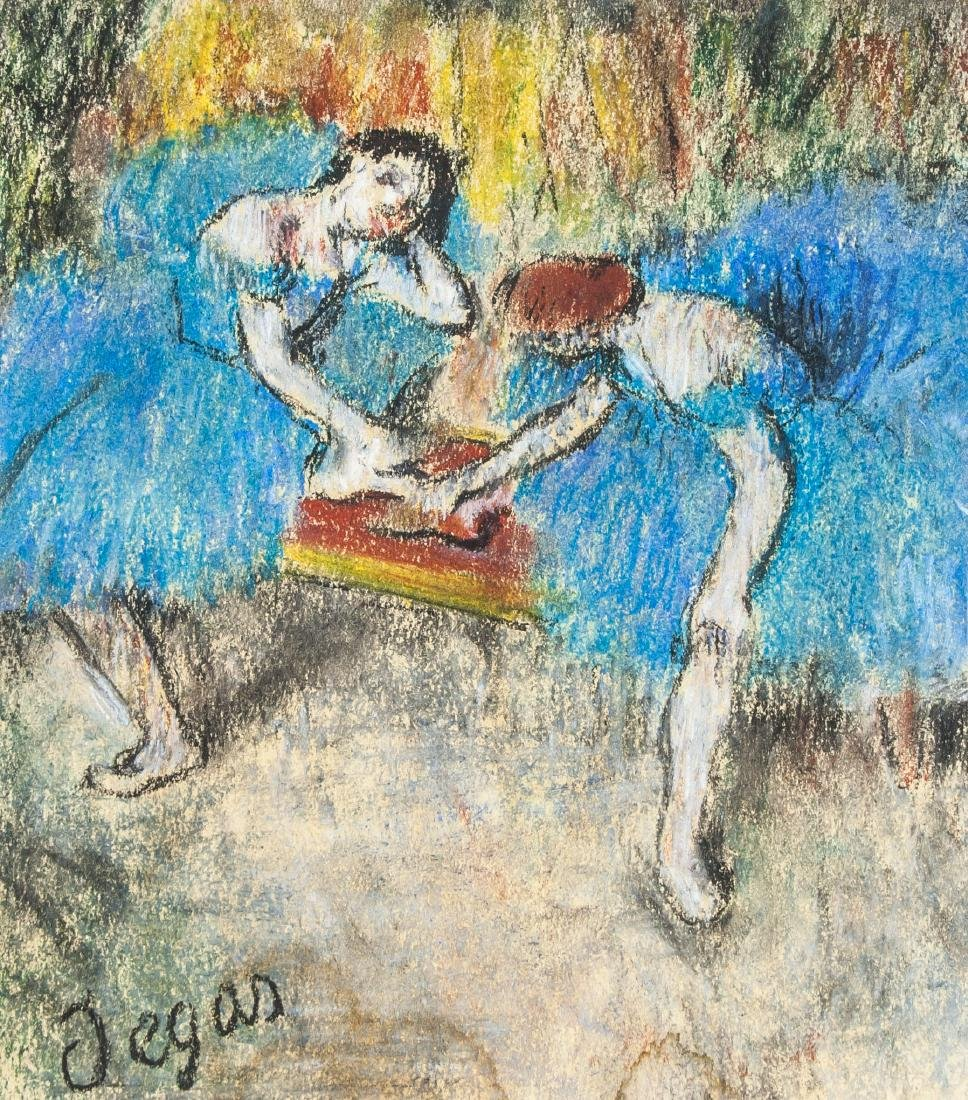 EDGAR DEGAS French 1834-1917 Pastel on Paper