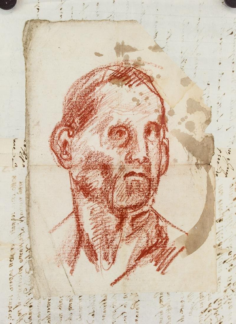 JACOPO DA PONTORM Italian 1494-1557 Pastel Portrai