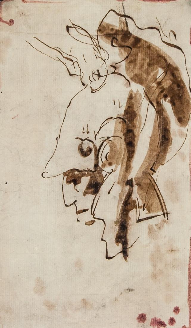 Attr. REMBRANDT van Rijn Dutch 1606-1669 WC