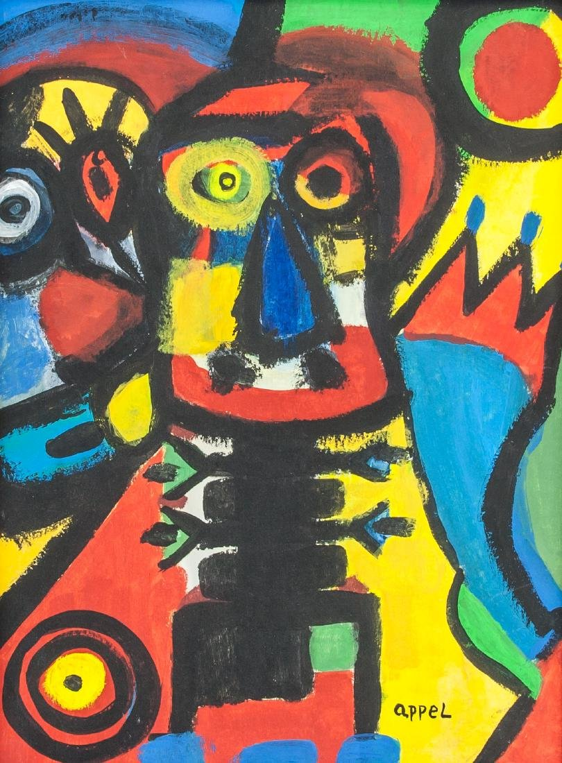 KAREL APPEL Dutch 1921-2006 Gouache on Paper