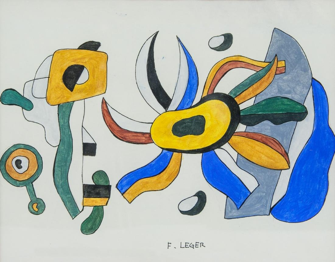 FERNAND LEGER French 1881-1955 Gouache on Paper