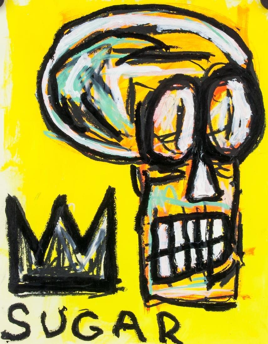 JEAN-MICHEL BASQUIAT American 1960-1988 Acrylic