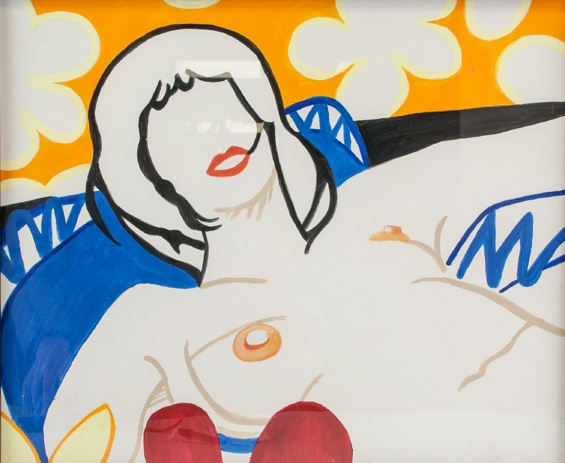 TOM WESSELMANN US 1931-2004 Acrylic on Board Nude