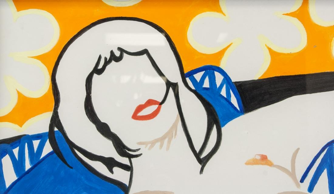 TOM WESSELMANN US 1931-2004 Acrylic on Board Nude - 3
