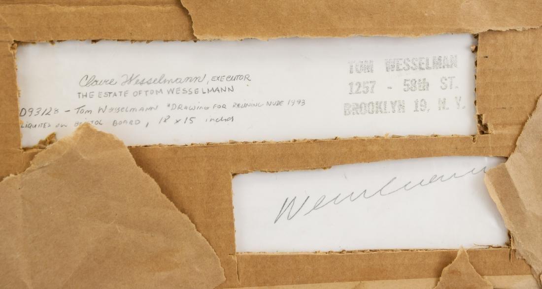 TOM WESSELMANN US 1931-2004 Acrylic on Board Nude - 6