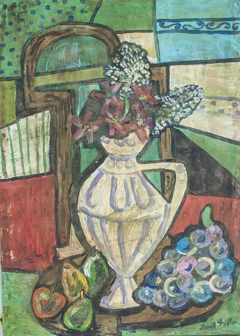 EMIL FILLA Czech 1882-1953 OOC Still Life Flowers