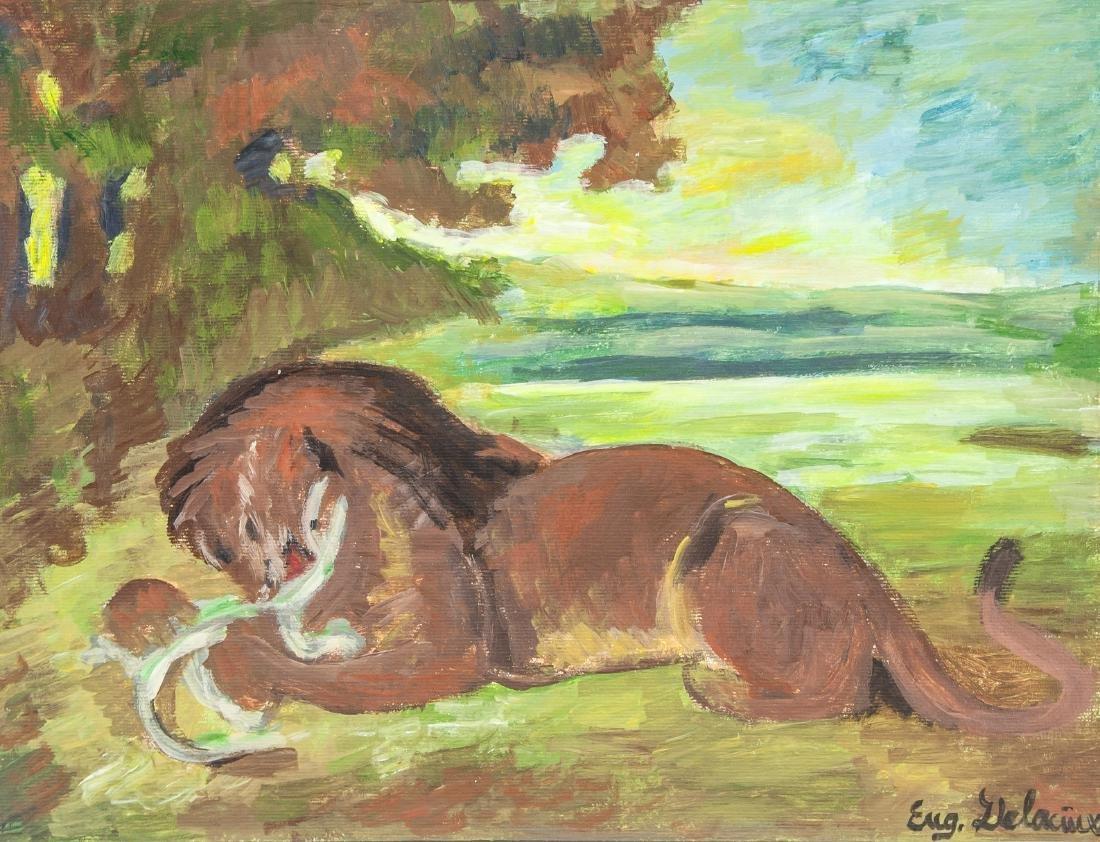 EUGENE DELACROIX French 1798-1863 Oil on Paper