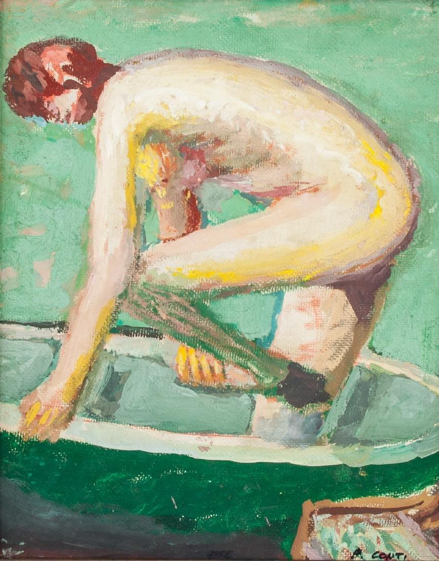 GIACOMO CONTI Italian 1813-1888 Oil on Board Nude