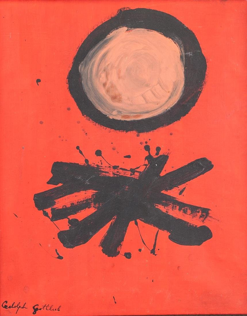 ADOLPH GOTTLIEB American 1903-1974 Oil on Canvas
