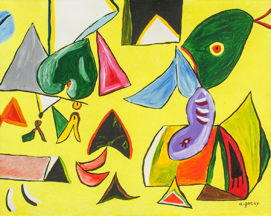 ARSHILE GORKY American 1904-1948 Oil on Canvas