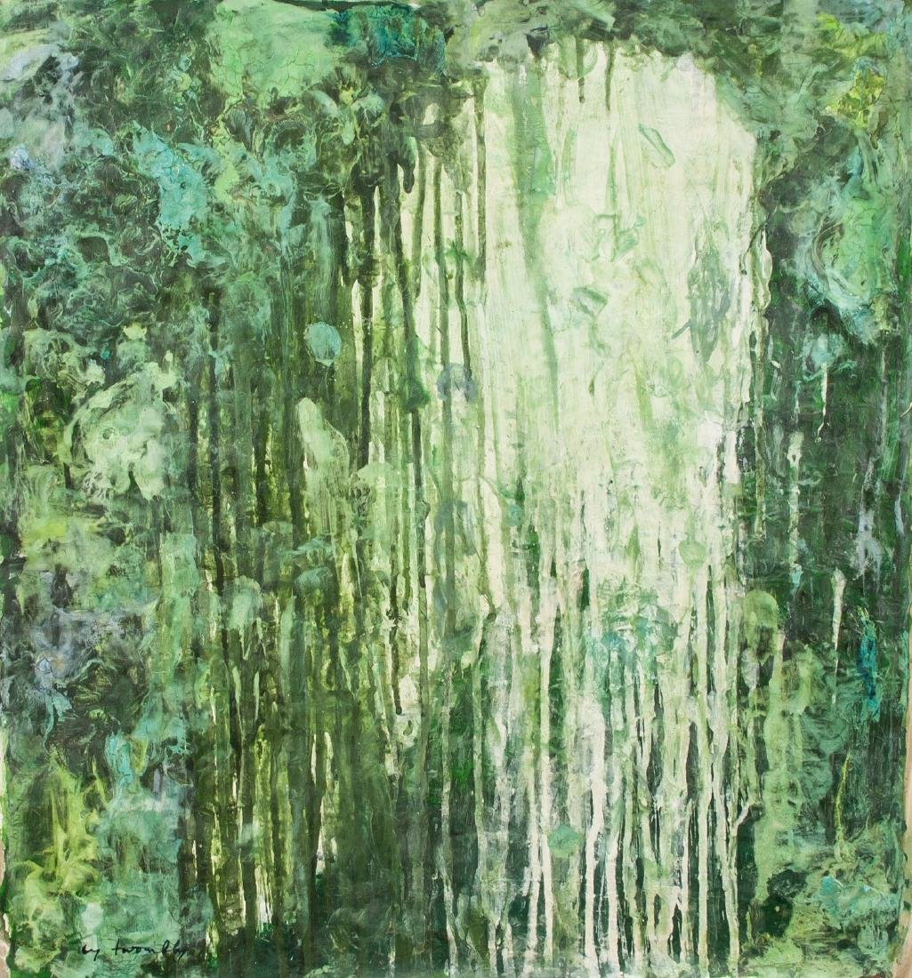 CY TWOMBLY American 1928-2011 Oil Abstract Flow