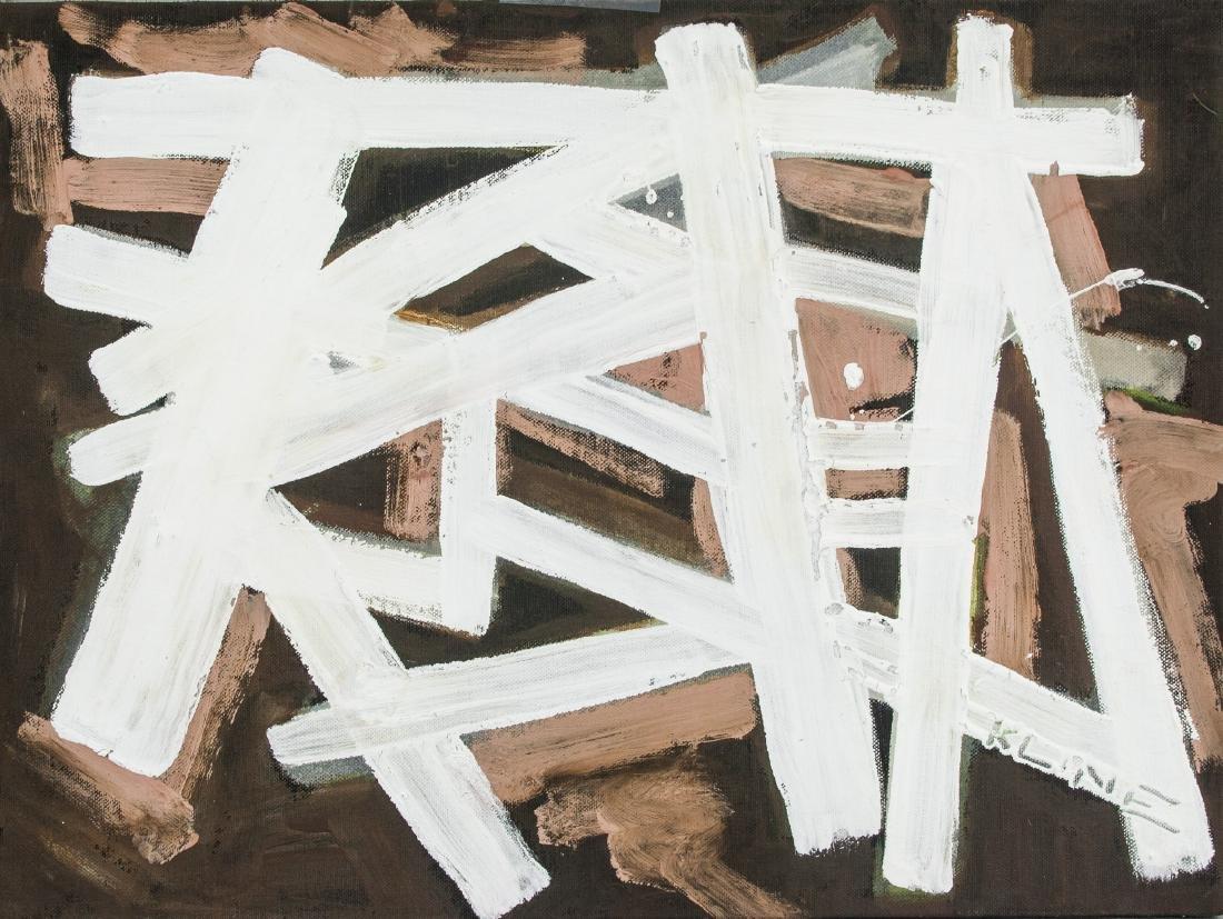 FRANZ KLINE US 1910-1962 Oil on Canvas