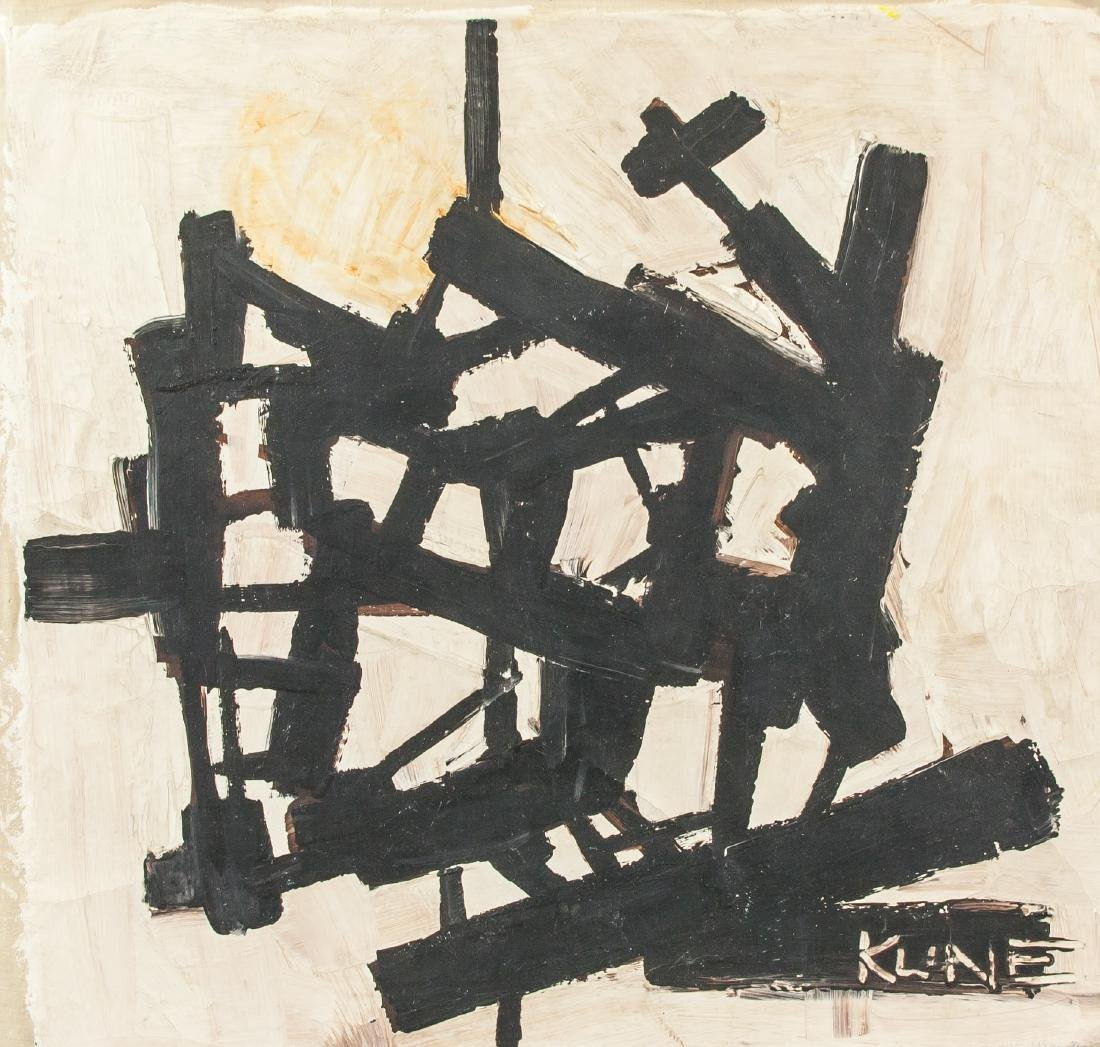 FRANZ KLINE American 1910-1962 Oil Abstract Straps