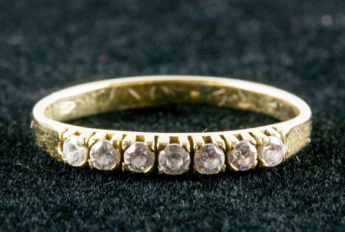 18k Gold 0.15ct Diamond &Yellow Gold Ring