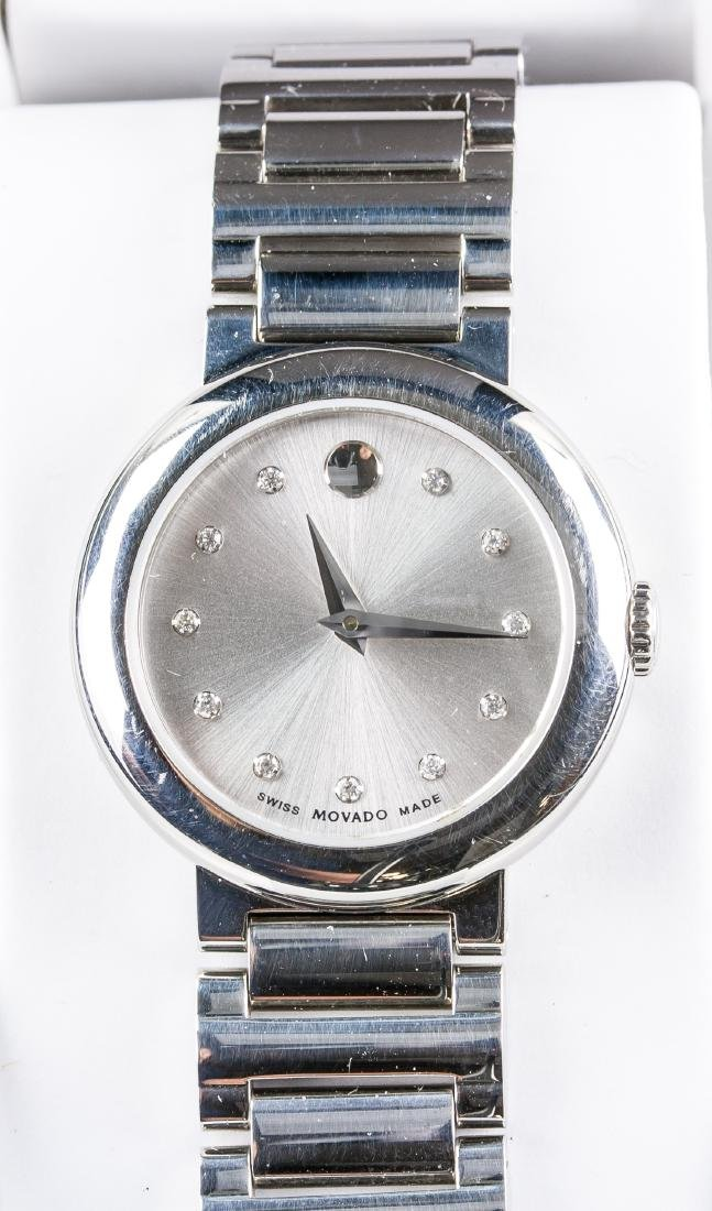 MOVADO Diamond Swiss Watch RV $1195