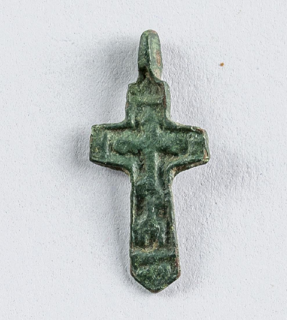 15th Century Russian Orthodox Child Cross Pendant