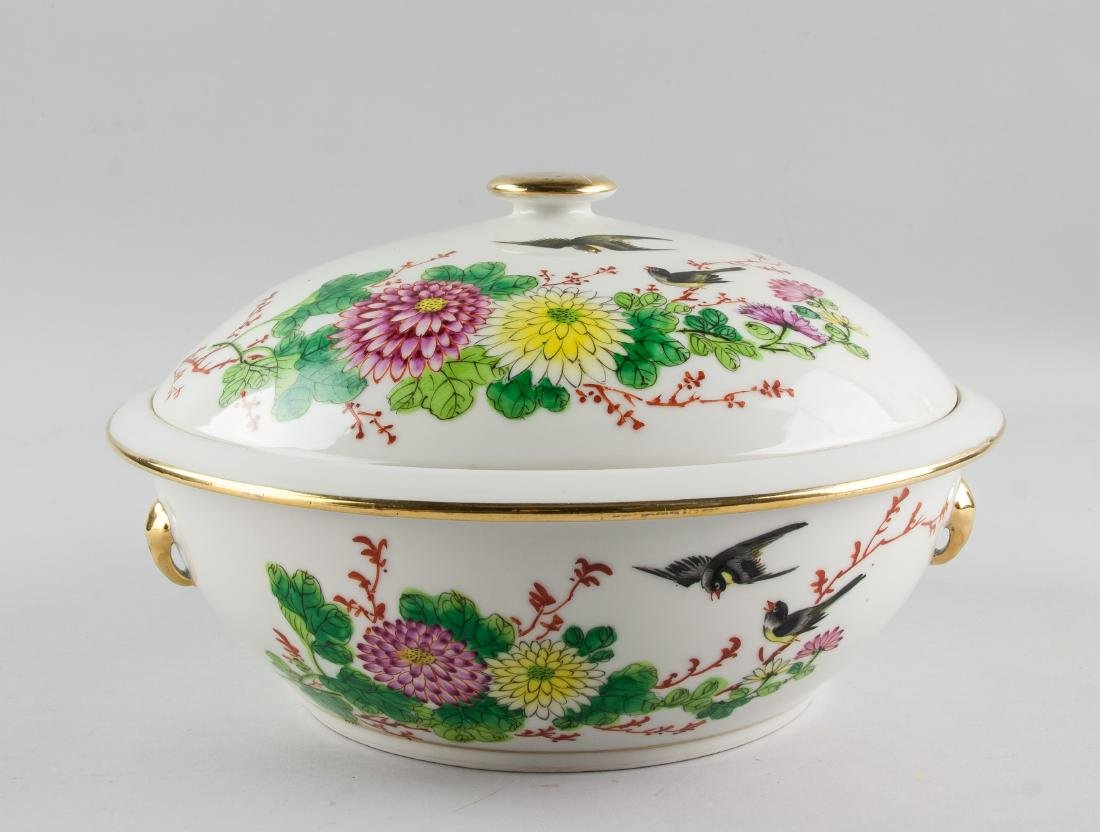 Chinese Republic Famille Rose Gilt Porcelain Basin