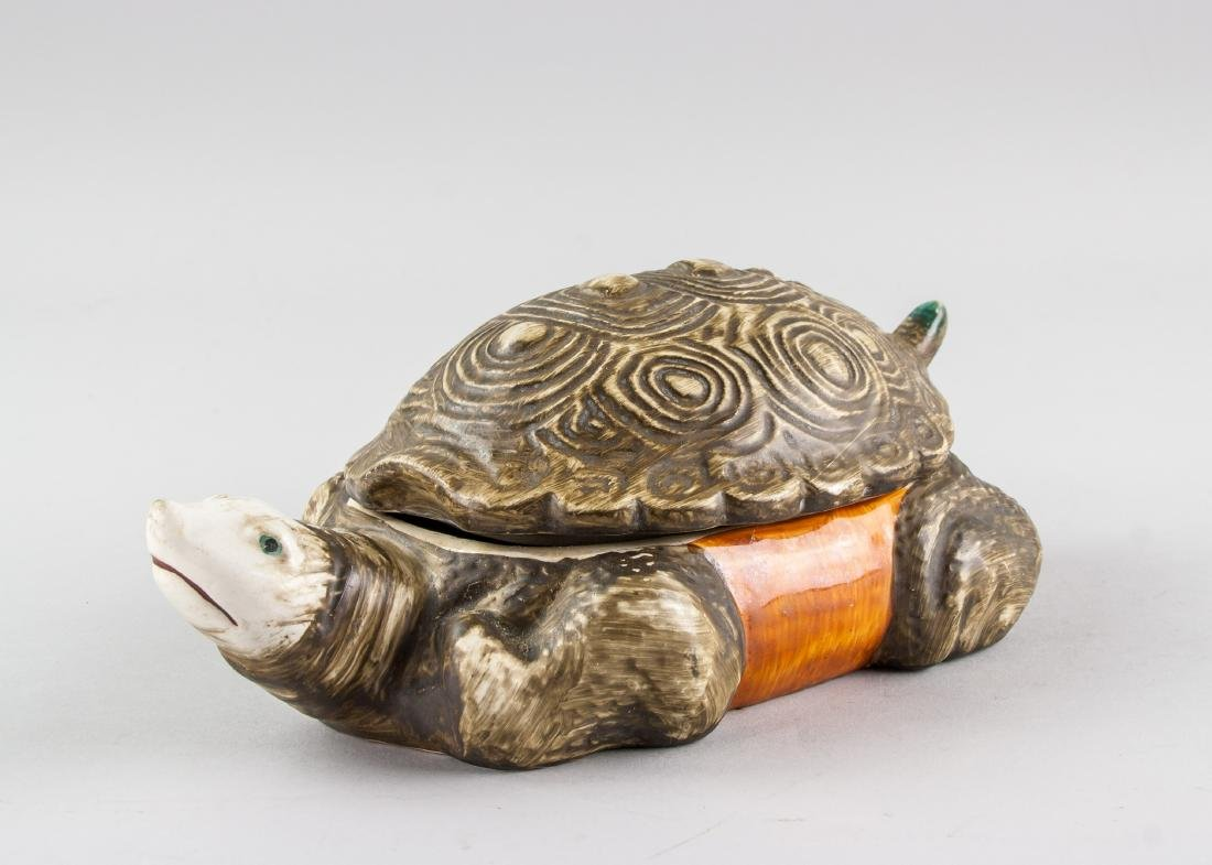 Chinese Porcelain Soft Shell Turtle Form Box w/ MK