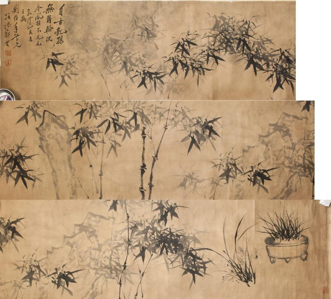 ZHENG BANQIAO Chinese 1693-1765 Ink Paper Roll