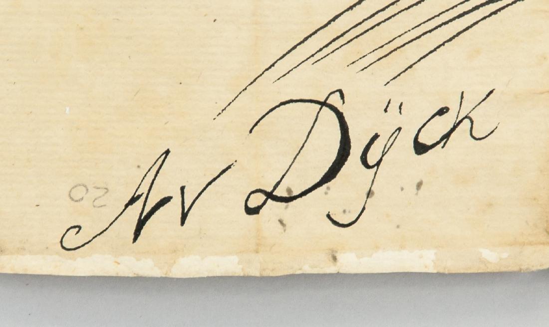 ANTOON VAN DYCK Belgian 1599-1641 Ink Study Horses - 4