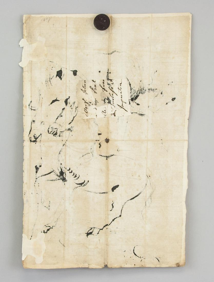 ANTOON VAN DYCK Belgian 1599-1641 Ink Study Horses - 5