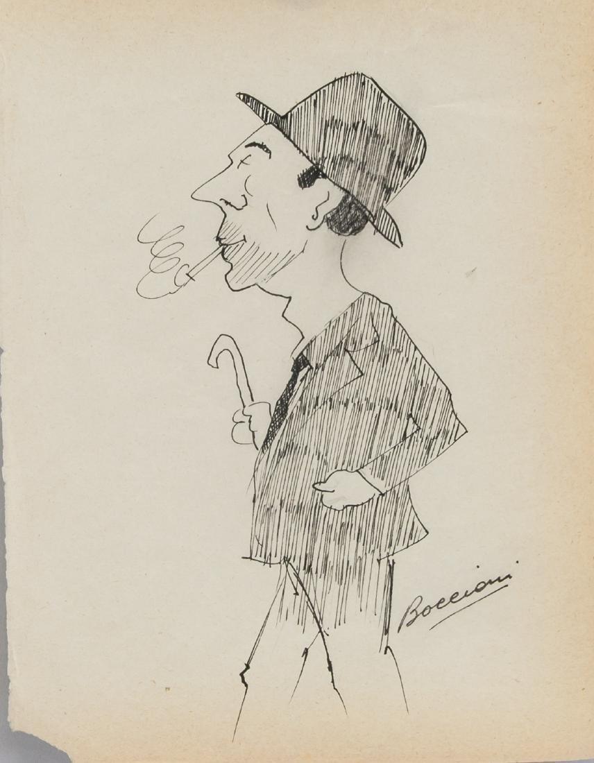 Ink on Paper Signed Boccioni