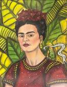 FRIDA KAHLO Mexican 1907-1954 Pastel on Paper COA