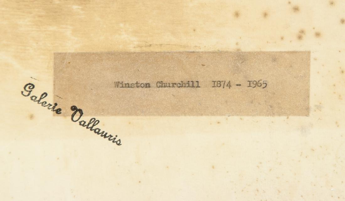 WINSTON CHURCHILL British 1874-1965 Watercolor - 7