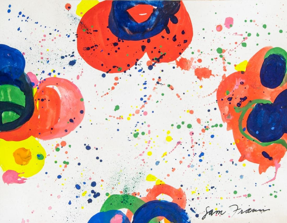 SAM FRANCIS US 1923-1994 WC & Acrylic on Paper