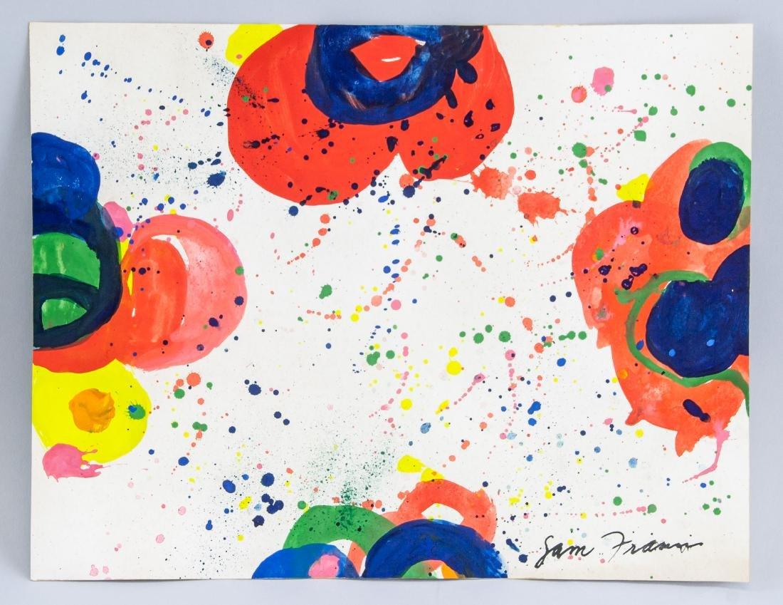 SAM FRANCIS US 1923-1994 WC & Acrylic on Paper - 2