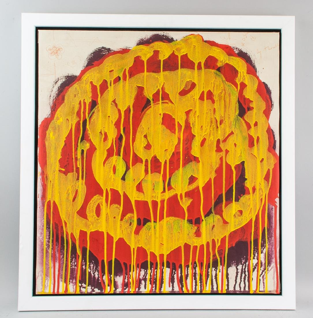 CY TWOMBLY American 1928-2011 Acrylic on Canvas - 2