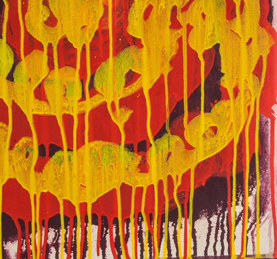 CY TWOMBLY American 1928-2011 Acrylic on Canvas - 3