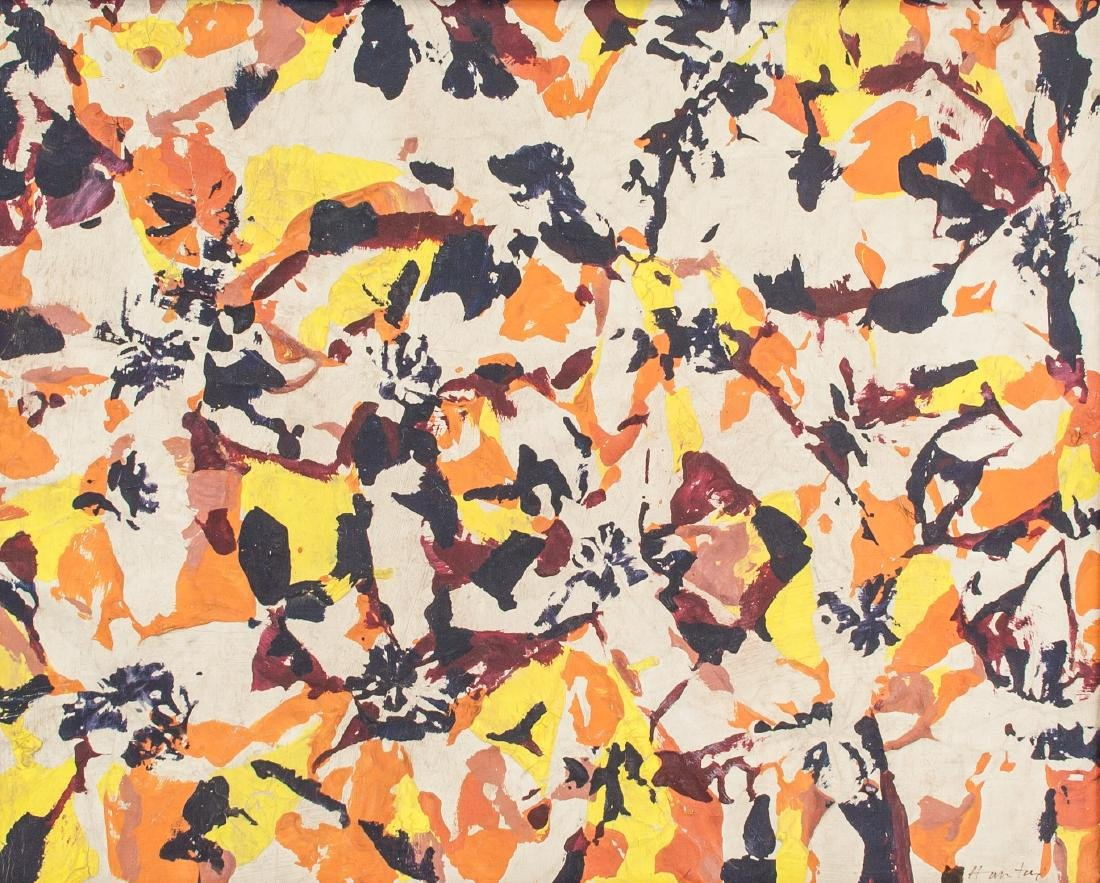 SIMON HANTAI Hungarian 1922-2008 Oil on Canvas