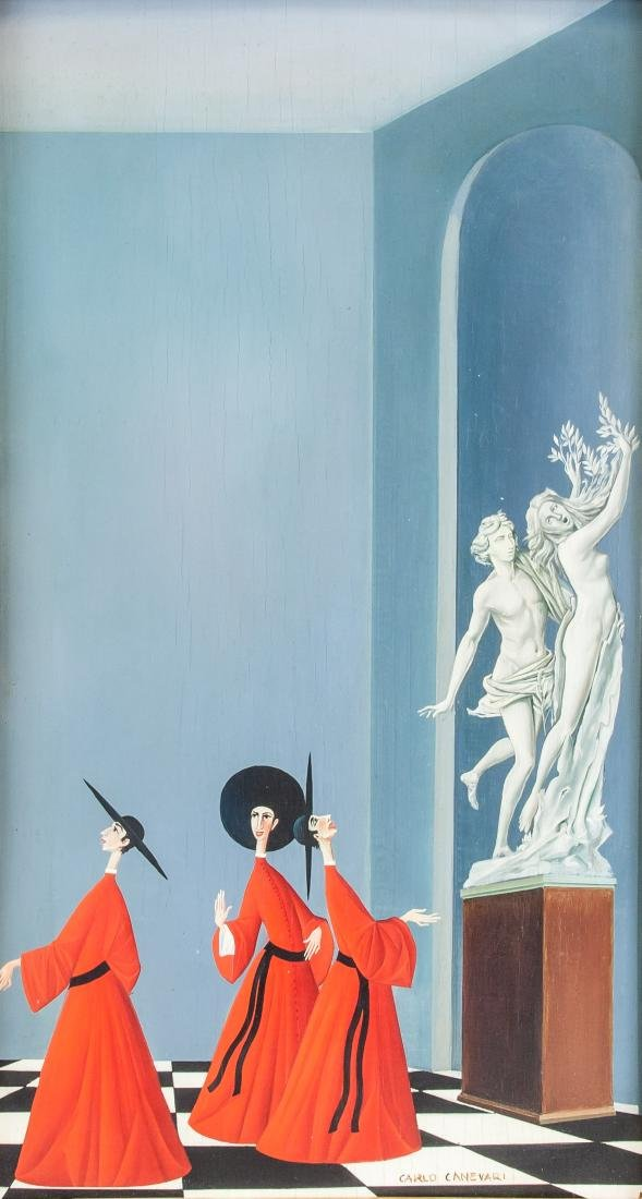 CARLO CANEVARI Italian 1922-1996 Oil on Panel