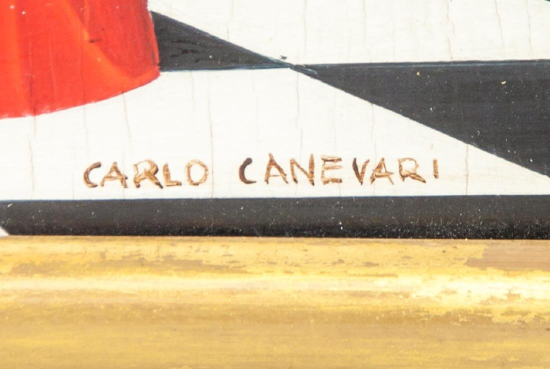 CARLO CANEVARI Italian 1922-1996 Oil on Panel - 5
