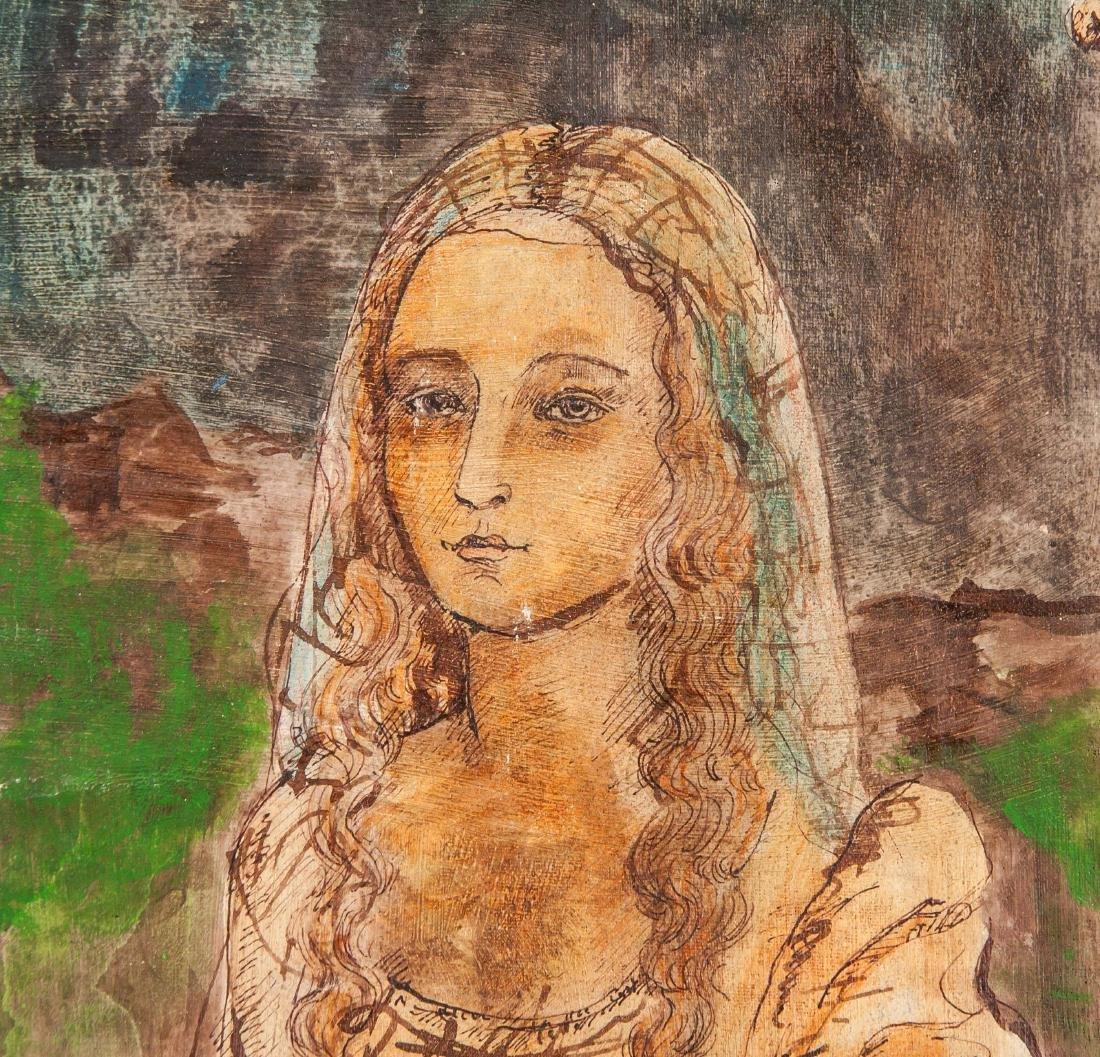 LEONARDO DA VINCI Italian 1452-1519 OOC Portrait - 3