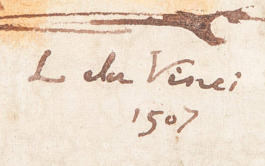 LEONARDO DA VINCI Italian 1452-1519 OOC Portrait - 4