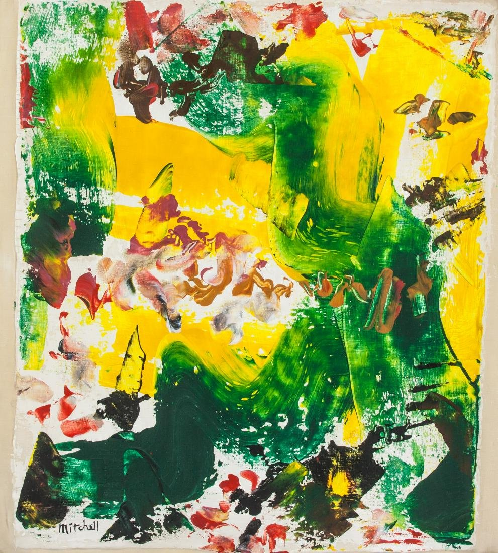 JOAN MITCHELL US 1925-1992 Oil on Canvas Abstract