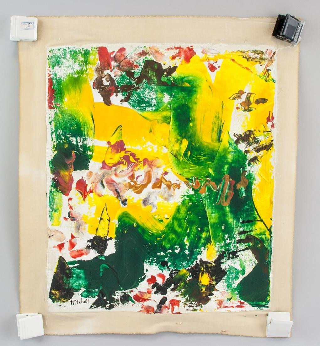 JOAN MITCHELL US 1925-1992 Oil on Canvas Abstract - 2