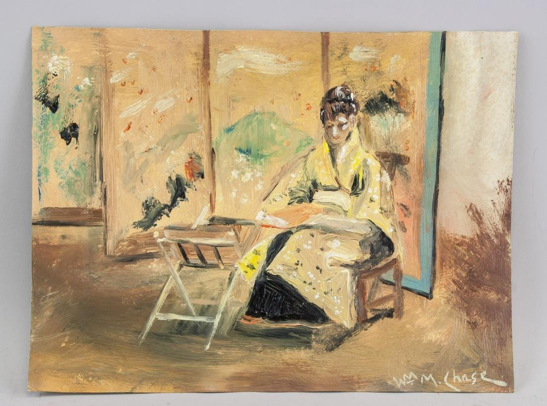 WILLIAM MERRITT CHASE US 1849-1916 Oil Paper - 2