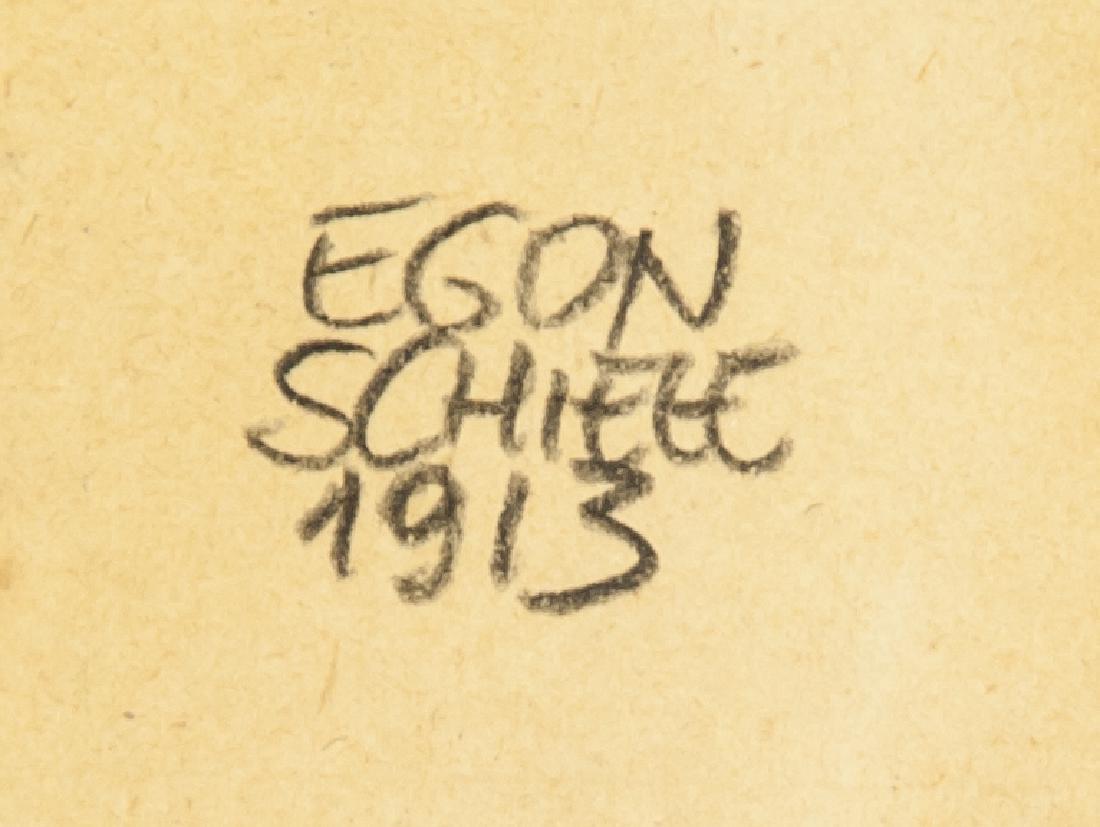 EGON SCHIELE Austrian 1890-1918 Mix Media on Paper - 4