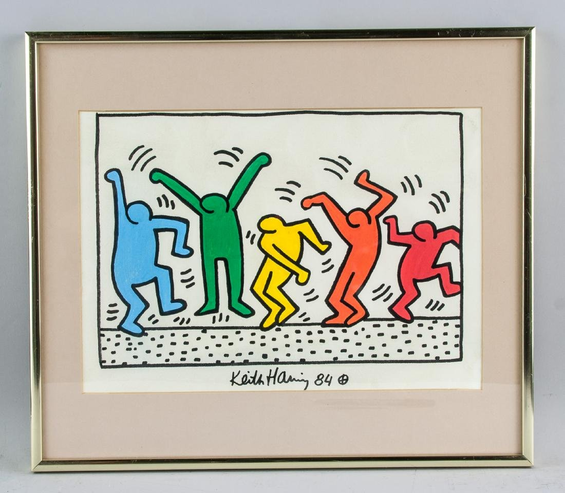 KEITH HARING American 1958-1990 Mixed Media - 2