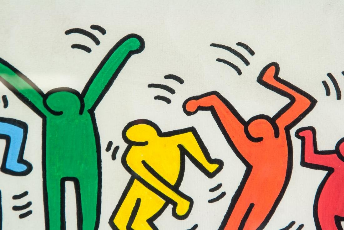 KEITH HARING American 1958-1990 Mixed Media - 3