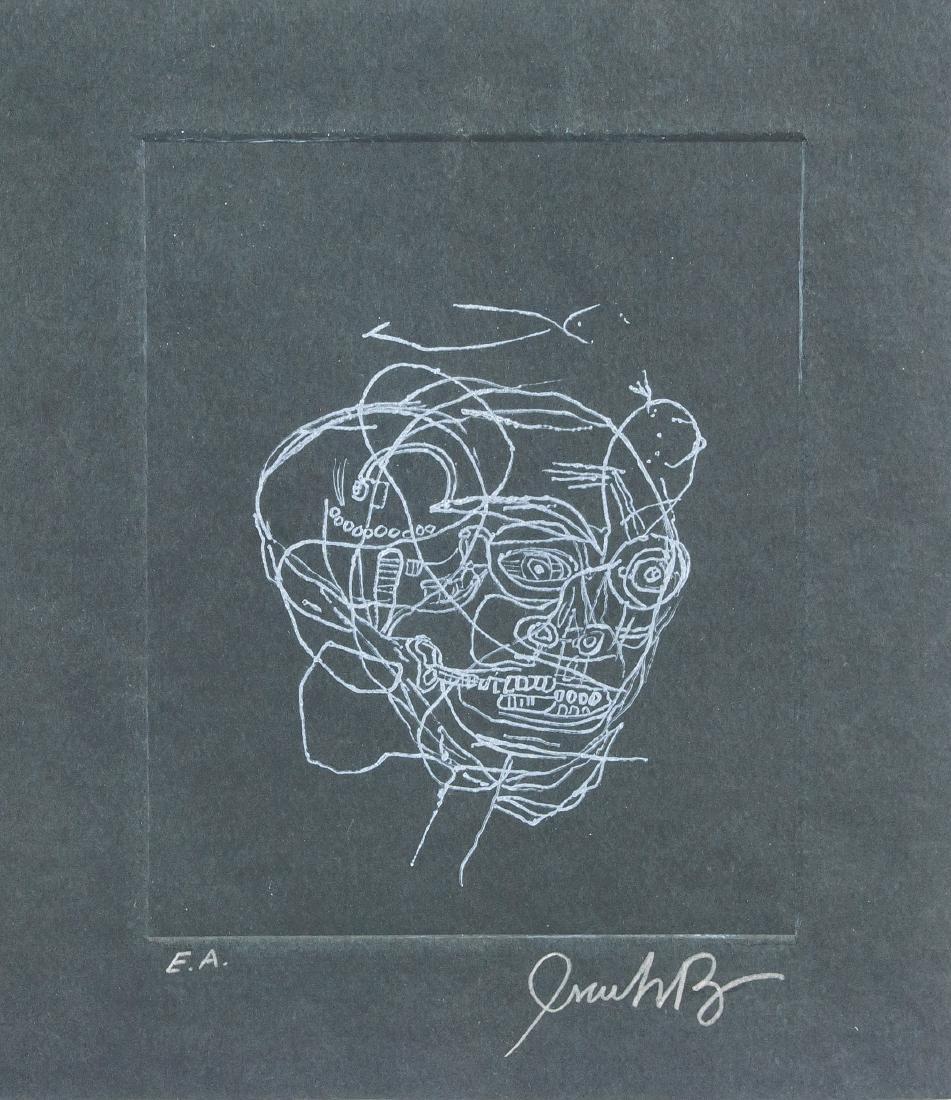 JEAN-MICHEL BASQUIAT US 1960-1988 Linocut Print