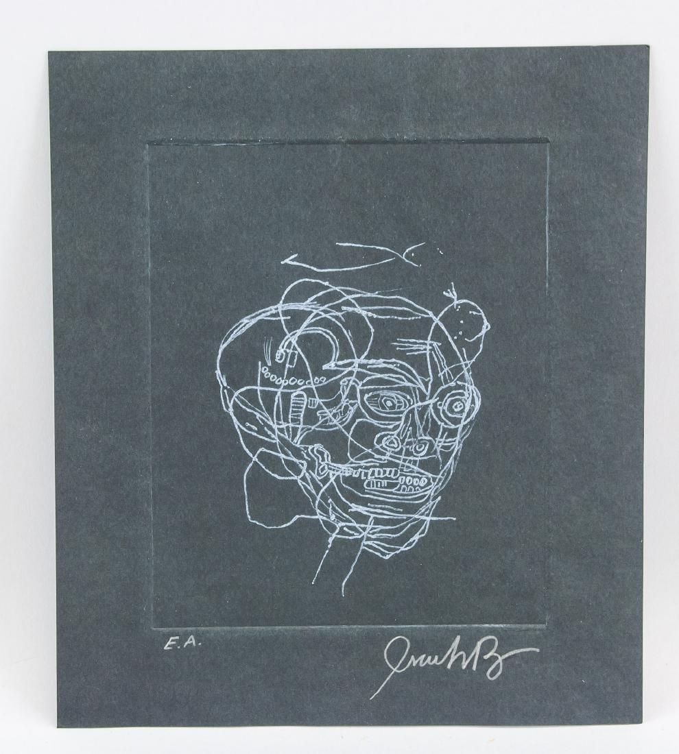 JEAN-MICHEL BASQUIAT US 1960-1988 Linocut Print - 2