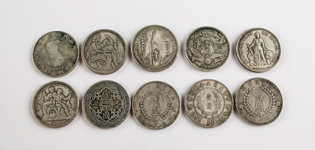 Ten Assorted Silver World Coins