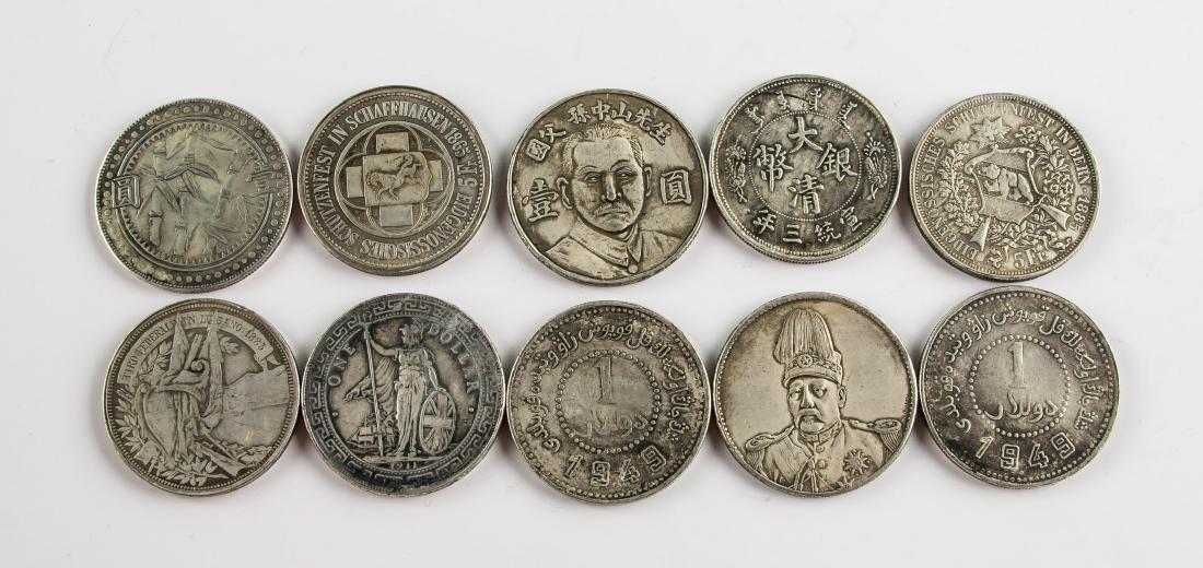 Ten Assorted Silver World Coins - 2
