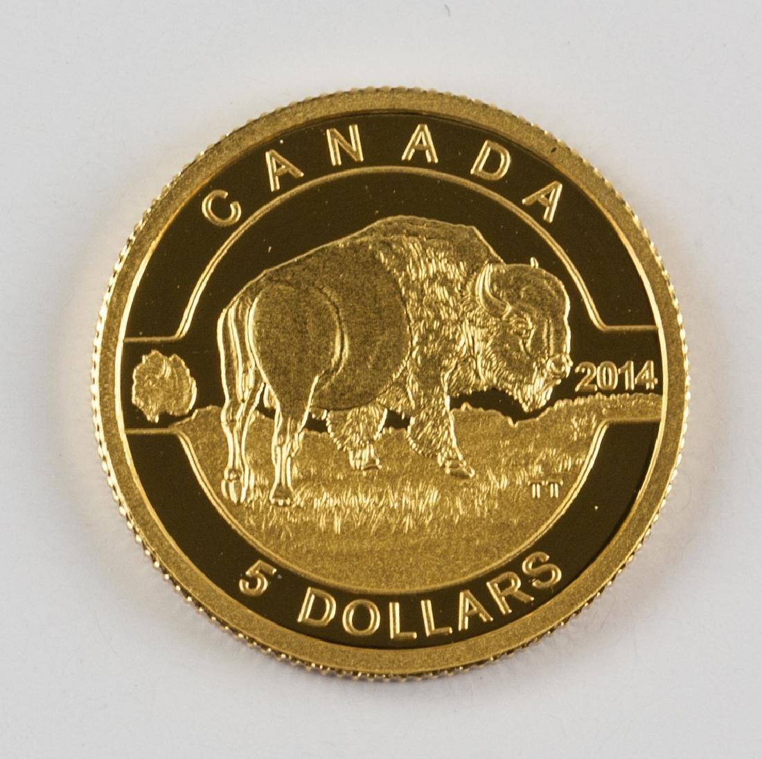 2014 RCM Issue .999 Fine Gold $5 Dollar Coin (COA) - 2