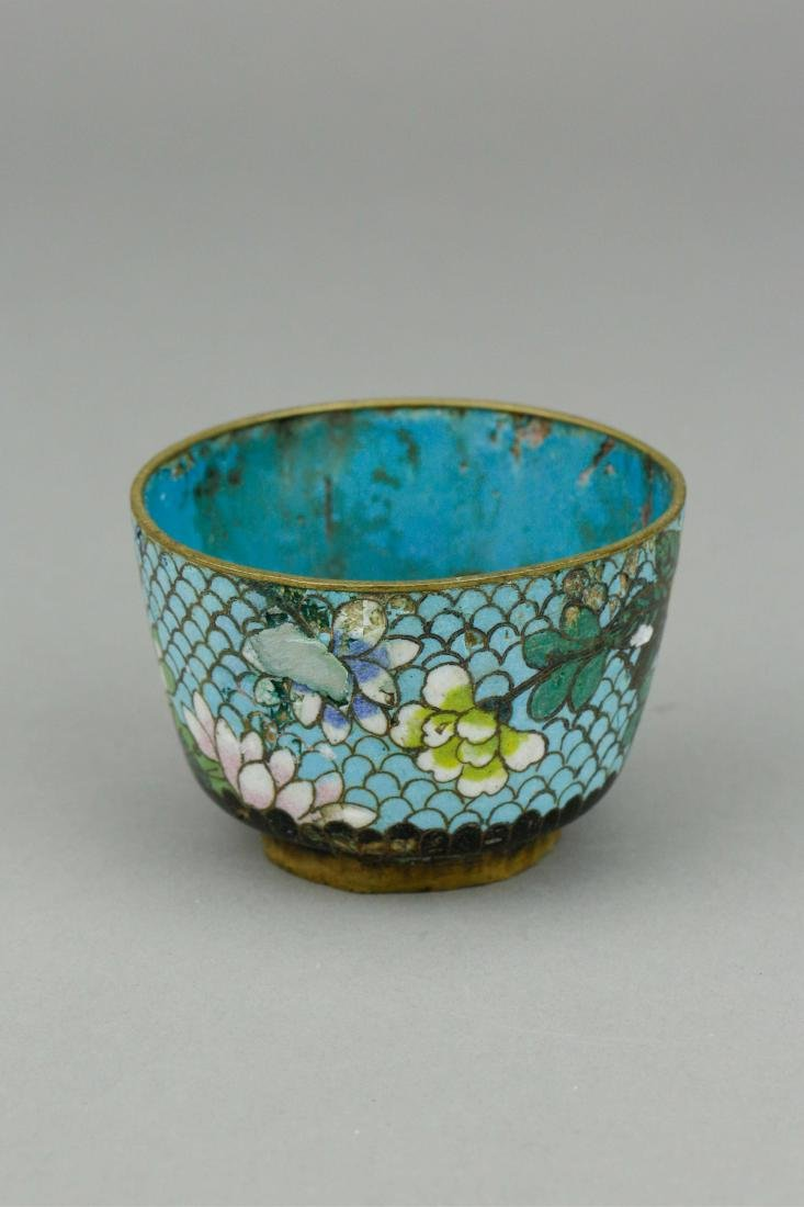 16th to18th Century Bronze Cloisonne Cup