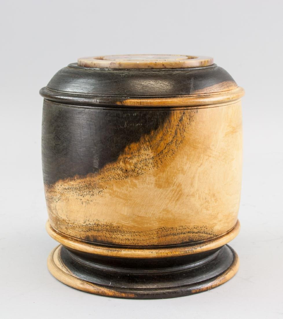 Chinese Zitan Wood Carved Pot with Cover